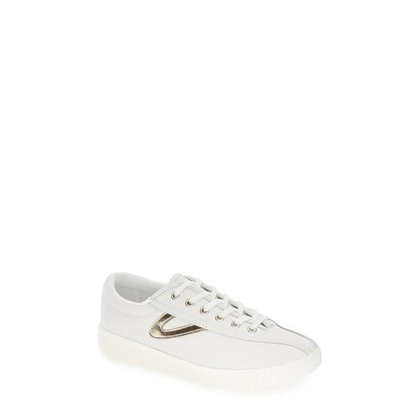 トレトン レディース スニーカー シューズ 'Nylite2 Plus' Sneaker White/ Gold