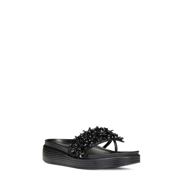 ドナルドプリネール レディース サンダル シューズ Fifi Slide Sandal Black/ Black Fabric