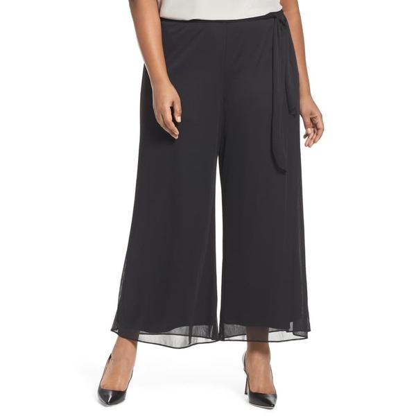アレックスイブニングス レディース カジュアルパンツ ボトムス High Rise Tie Waist Wide Leg Pants Black
