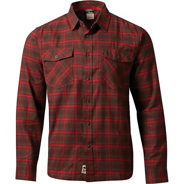 ラブ メンズ シャツ トップス Rab Men's Cascade LS Shirt Rootbeer