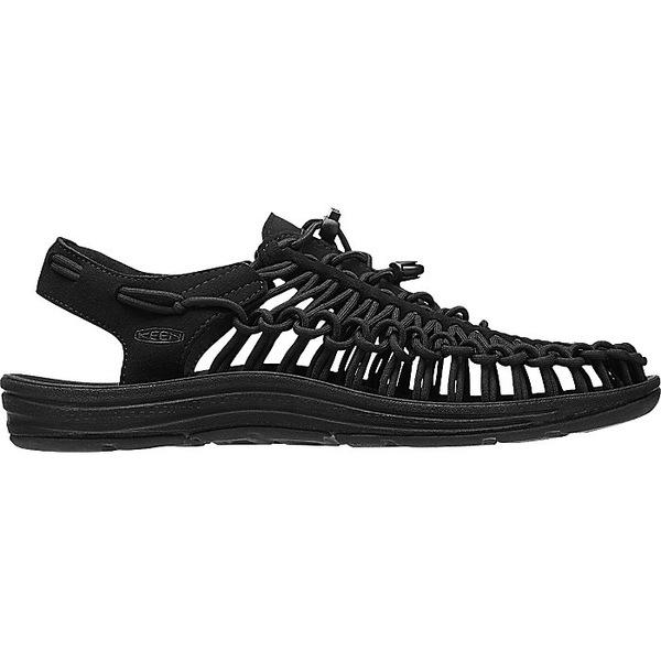 キーン メンズ サンダル シューズ KEEN Men's Uneek Sandal Black / Black