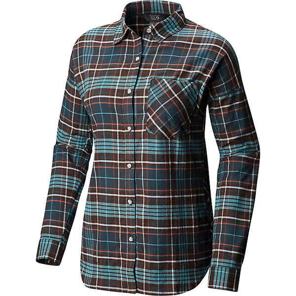 マウンテンハードウェア レディース シャツ トップス Mountain Hardwear Women's Karsee LS Shirt Blue Spruce