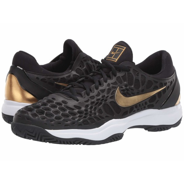 ナイキ メンズ スニーカー シューズ Air Zoom Cage 3 HC Black/Metallic Gold/White