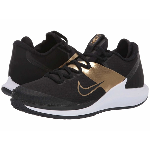ナイキ メンズ スニーカー シューズ Court Air Zoom Zero HC Black/Black/Metallic Gold/White