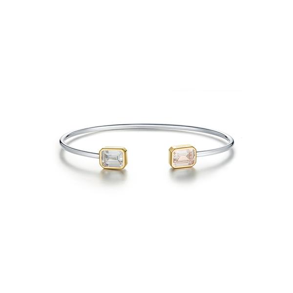 ラフォン レディース アクセサリー 訳あり品送料無料 ブレスレット バングル アンクレット 一部予約 WHITE 全商品無料サイズ交換 Simulated Cut Flexible Diamond Bracelet Bangle Emerald