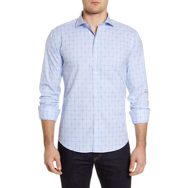 ブガッチ メンズ シャツ トップス Shaped Fit Button-Up Shirt Sky