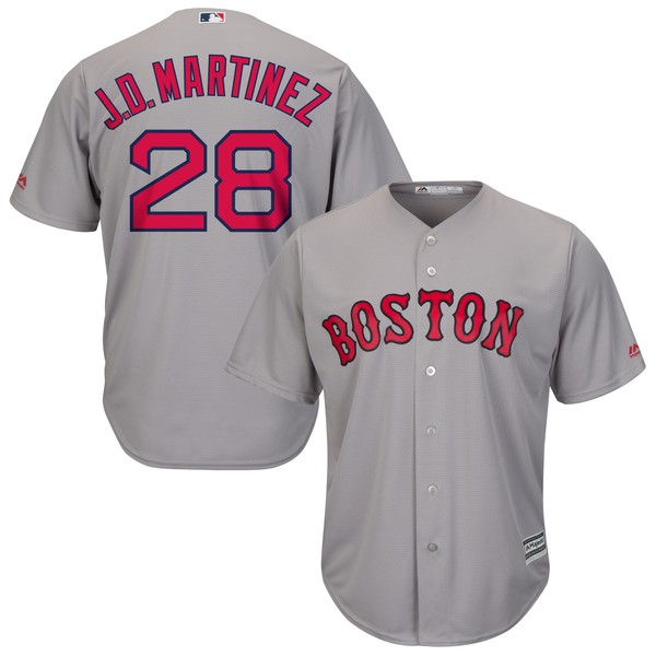 マジェスティック メンズ ユニフォーム トップス J.D. Martinez Boston Red Sox Majestic Alternate Official Cool Base Replica Player Jersey Scarlet