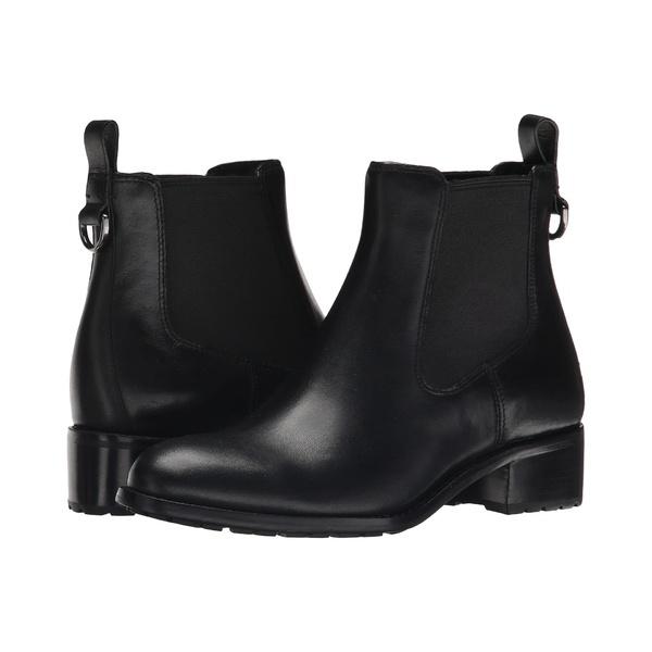 コールハーン レディース ブーツ&レインブーツ シューズ Newburg Waterproof Bootie Black Leather