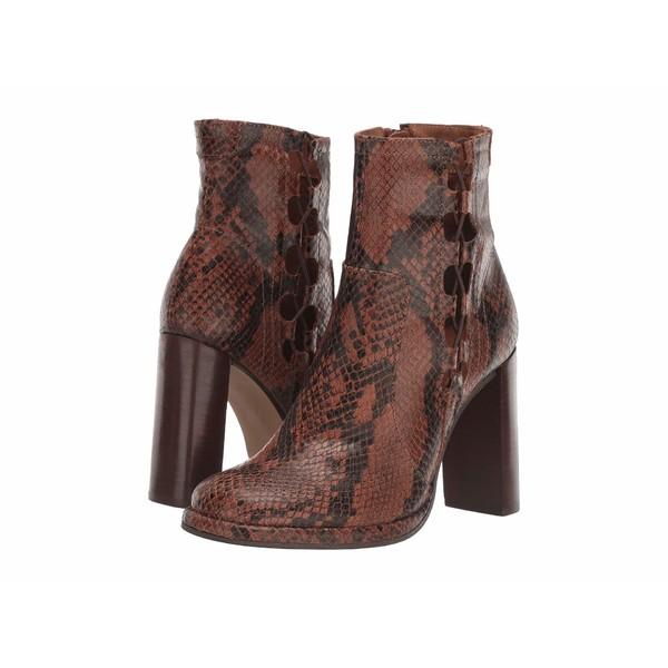 フリーピープル レディース ブーツ&レインブーツ シューズ Marietta Snake Print Heel Boot Brown Combo