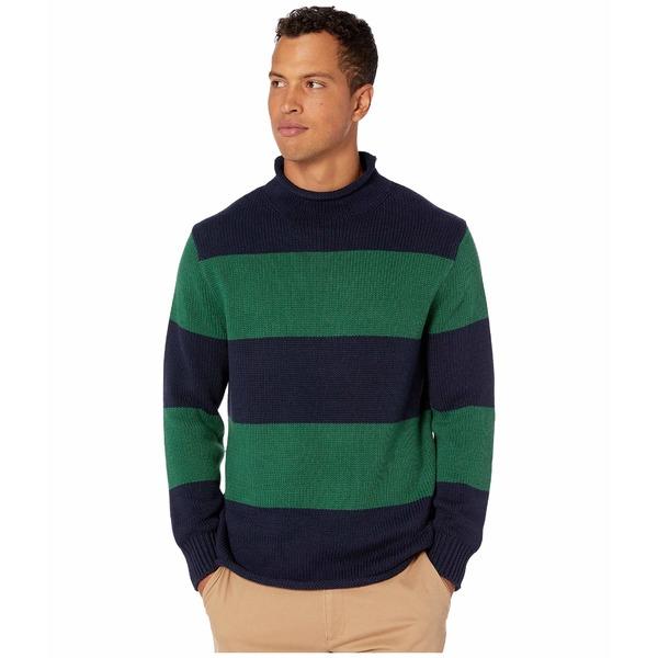 ジェイクルー メンズ ニット&セーター アウター Unisex 1988 Cotton Striped Rollneck Sweater Stripe Deep Ultramarine