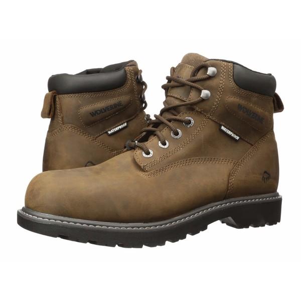 ウルヴァリン メンズ ブーツ&レインブーツ シューズ Floorhand Puncture Resistant Steel Toe Summer Brown