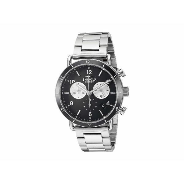 シノラ メンズ 腕時計 アクセサリー 40 mm Canfield Sport Black/Silver Bracelet