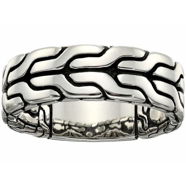 ジョン・ハーディー メンズ リング アクセサリー Classic Chain Band Ring 8mm Silver