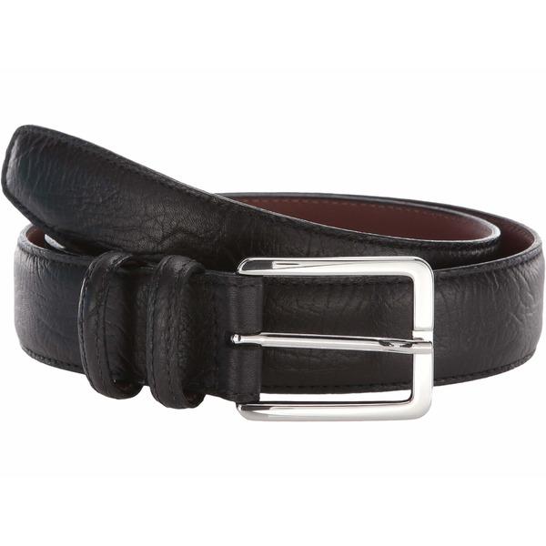 トリーノレザー メンズ ベルト アクセサリー 35 mm Shrunken Bull Shoulders Black