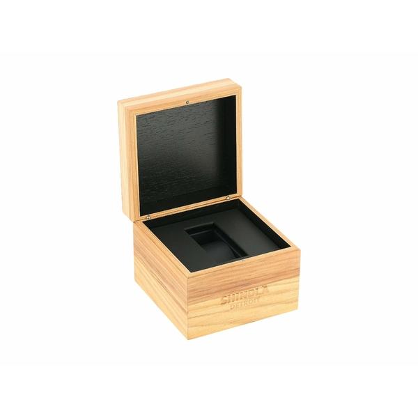 シノラ メンズ 腕時計 アクセサリー 47 mm Runwell Chrono Cream Black Leather StrapTKl3c1FJ