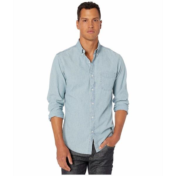ジェイクルー メンズ シャツ トップス Slim Stretch Organic Cotton Chambray Shirt in Light Wash Core Chambray