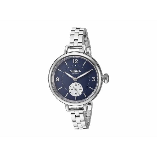 シノラ レディース 腕時計 アクセサリー 34 mm Birdy Sub Second Midnight Blue/Silver Bracelet