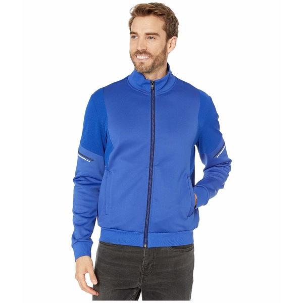 ブガッチ メンズ コート アウター Sibiu Long Sleeve Full Zip Mock Neck Knit Jacket Classic Blue