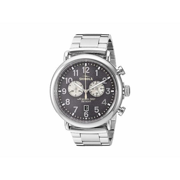 シノラ メンズ 腕時計 アクセサリー 47 mm Runwell Chrono Cool Gray/Silver Bracelet