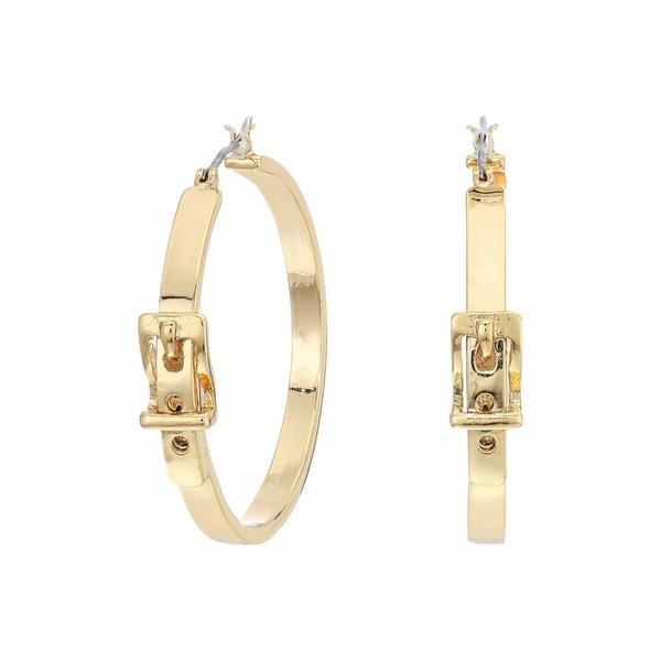 ラルフローレン レディース ピアス&イヤリング アクセサリー Buckle Hoop Earrings Gold
