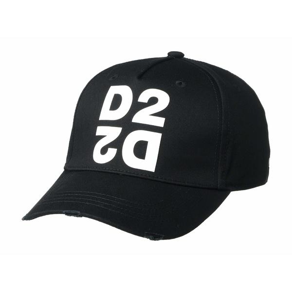 ディースクエアード メンズ 帽子 アクセサリー Two To Make A Thing Baseball Cap Black