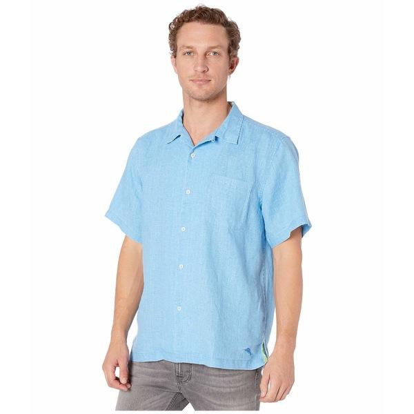 トッミーバハマ メンズ シャツ トップス Sea Glass Camp Shirt Blue Yonder