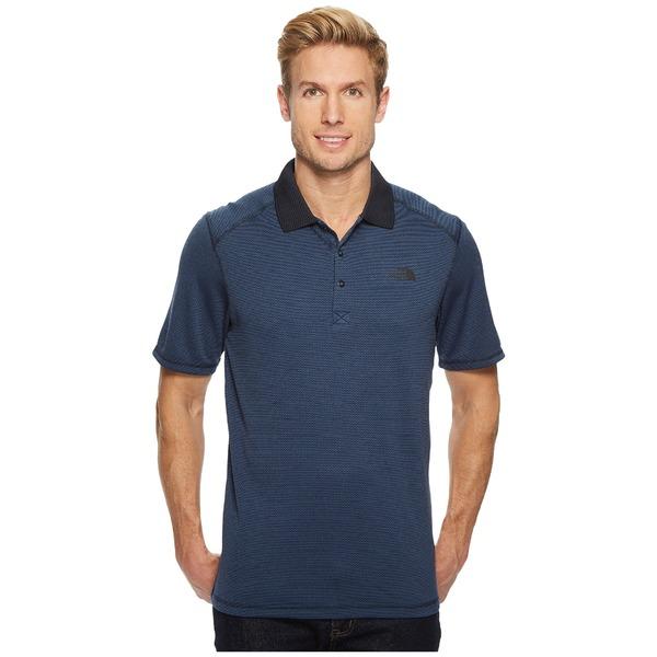 ノースフェイス メンズ シャツ トップス Short Sleeve Horizon Polo Urban Navy Stripe