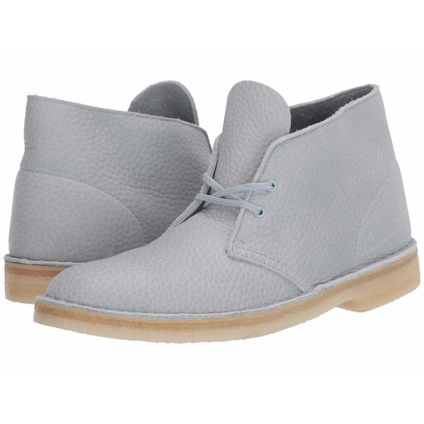 クラークス メンズ ブーツ&レインブーツ シューズ Desert Boot Light Blue Leather
