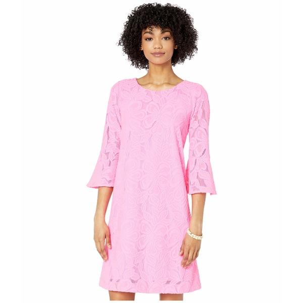 リリーピュリッツァー レディース ワンピース トップス Ophelia Dress Prosecco Pink Wildflower Stripe Lace