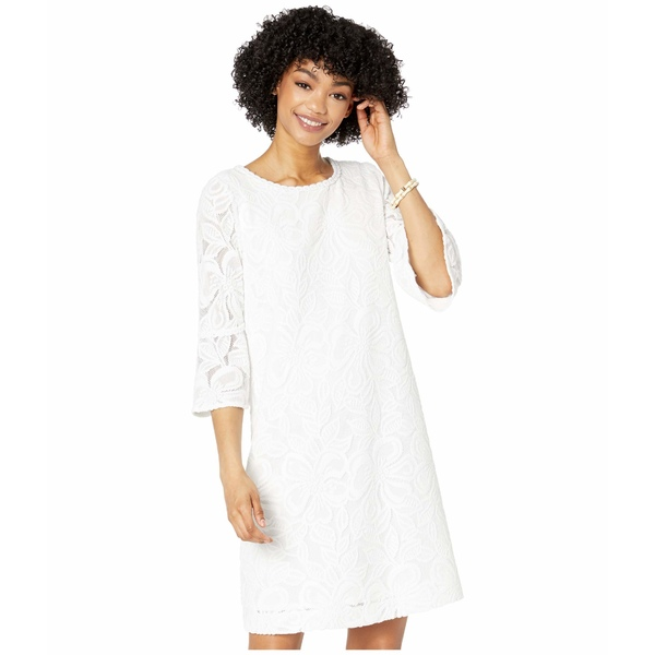 リリーピュリッツァー レディース ワンピース トップス Ophelia Dress Resort White Wildflower Stripe Lace