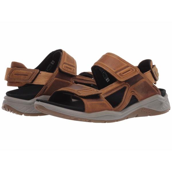 エコー メンズ サンダル シューズ X-Trinsic Leather Sandal Cayote