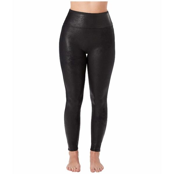 スパンク レディース カジュアルパンツ ボトムス Petite Faux Leather Leggings Black