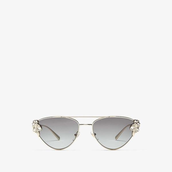 ヴェルサーチ レディース サングラス&アイウェア アクセサリー VE2195B Pale Gold/Grey Gradient