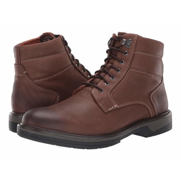 ジョンストンアンドマーフィー メンズ ブーツ&レインブーツ シューズ Rutledge Shearling Boot Brown Oiled Waterproof Tumbled Full Grain
