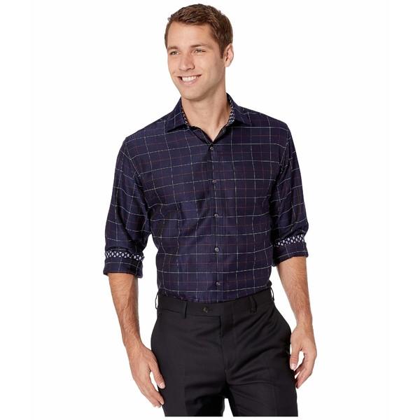 ブガッチ メンズ シャツ トップス Yvoire Long Sleeve Shirt Point Collar Regular Placket Midnight