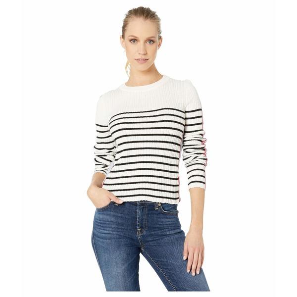 ビジョッププラスヤング レディース ニット&セーター アウター Marina Crop Sweater Black Stripe