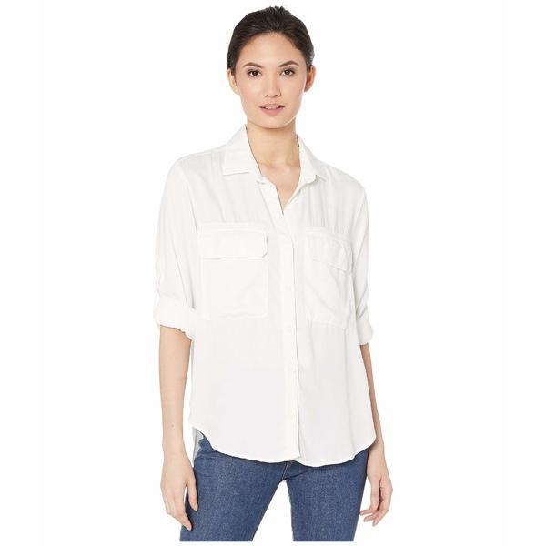 ベラダール レディース シャツ トップス Patch Pocket Utility Shirt in Satin Tencera White