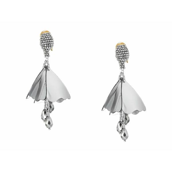 オスカー デ ラ レンタ レディース ピアス&イヤリング アクセサリー Small Impatiens C Earrings Oyster