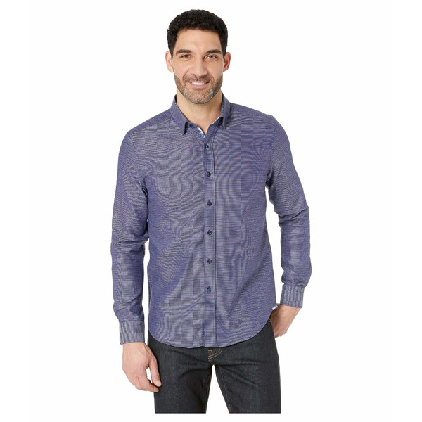 ロバートグラハム メンズ シャツ トップス Crantor Long Sleeve Woven Shirt Navy
