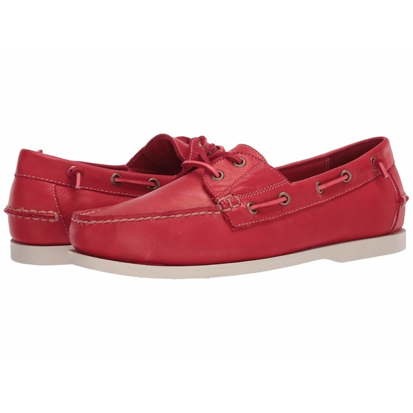 ラルフローレン メンズ デッキシューズ シューズ Merton Red Dip-Dye Leather