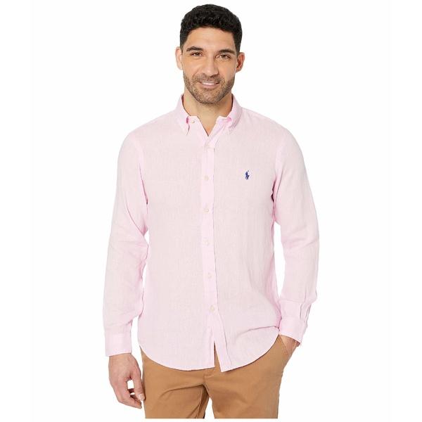 ラルフローレン メンズ シャツ トップス Classic Fit Long Sleeve Linen Shirt Carmel Pink