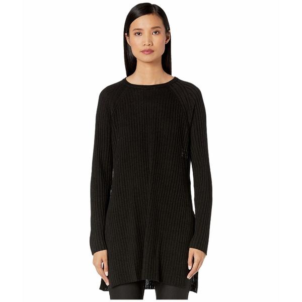 エイリーンフィッシャー レディース ニット&セーター アウター Organic Linen Cotton Round Neck Tunic Black