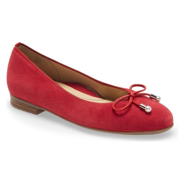 アラ レディース サンダル シューズ ara Scout Flat (Women) Red Suede
