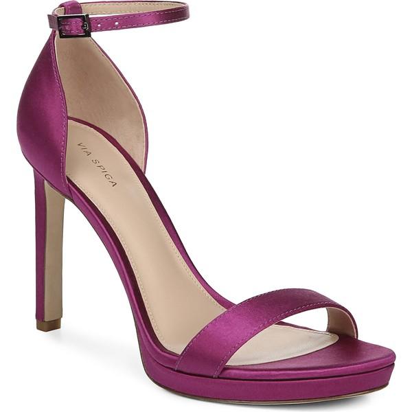 ヴィアスピガ レディース サンダル シューズ Via Spiga Marcela Ankle Strap Stiletto Sandal (Women) Magenta Satin