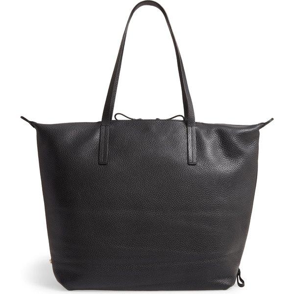 カーラ レディース トートバッグ バッグ Caraa Large Studio Leather Tote Black