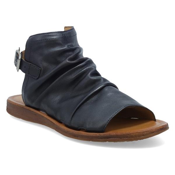 ミズムーズ レディース サンダル シューズ Miz Mooz Fallon Sandal (Women) Black Leather