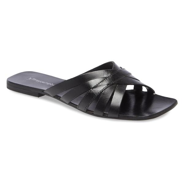 ジェフリー キャンベル レディース サンダル シューズ Jeffrey Campbell Amarra Slide Sandal (Women) Black Leather