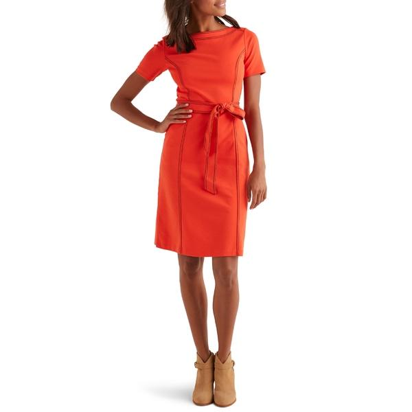 ボーデン レディース ワンピース トップス Boden Rebecca Ponte Sheath Dress Orange Sunset