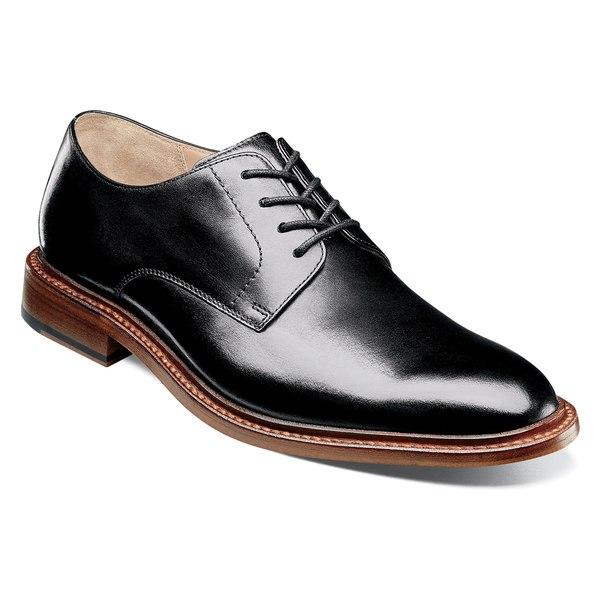 フローシャイム メンズ ドレスシューズ シューズ Florsheim Imperial Mercantile Plain Toe Derby (Men) Black Leather