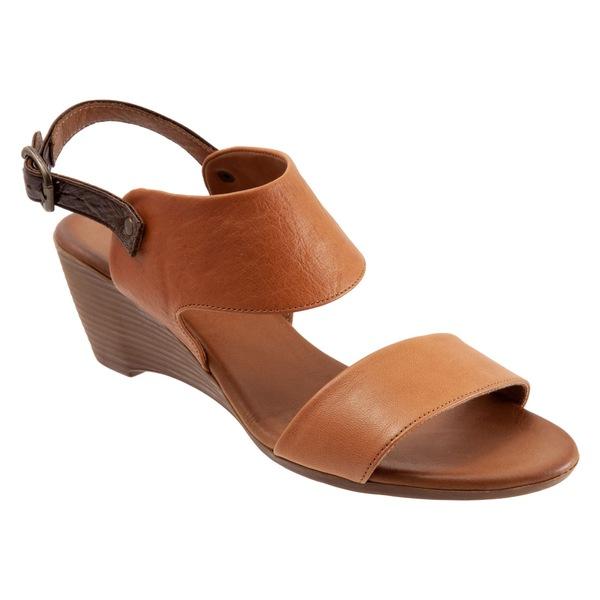 ブエノ レディース サンダル シューズ Bueno Ivana Slingback Wedge Sandal (Women) Tan Leather